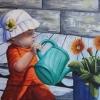 Bébé jardine