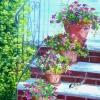 Escalier fleuri