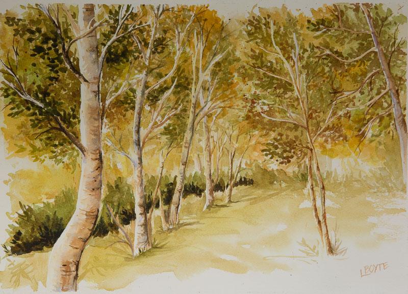 foret-de-bouleaux-atelier-peinture-linda-boyte
