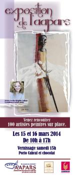 Carton d'invitation, exposition de l'AAPARS, mars 2014
