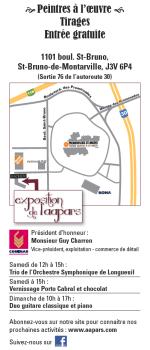 Carton d'invitation, exposition de l'AAPARS, mars 2014 - verso