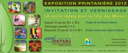 Carton Exposition Printanière 2012