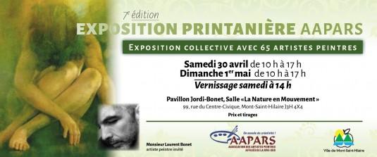 Carton d'invitation Exposition Printanière 2016