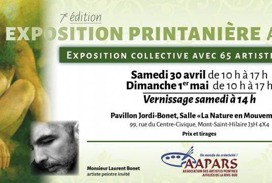Communiqué - L'Exposition Printanière à Mont-Saint-Hilaire 30 avril et 1er mai 2016 - Liste des exposants