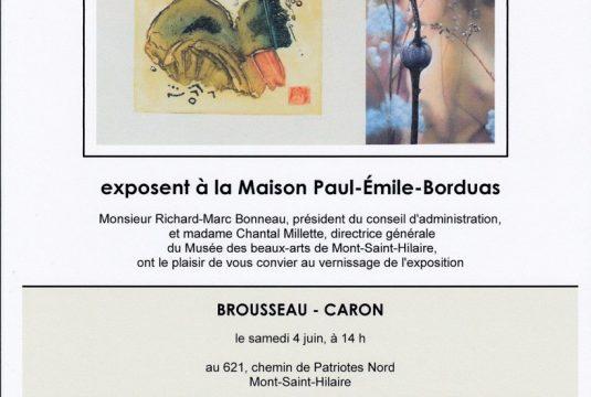 Vernissage Carmen Caron et Lise Brousseau