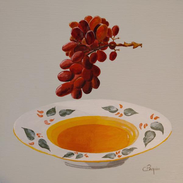 Assiette et raisins