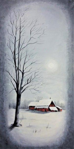 Grange en hiver