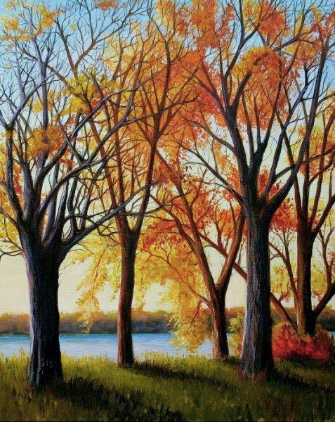 L\'automne au bord de l\'eau