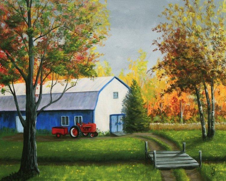 La grange bleue