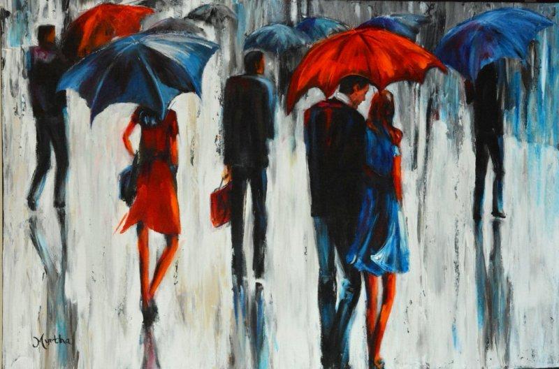 Flirt sous la pluie