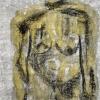 """""""Buste jaune"""", encre-fusain-papier/lamine-25x19po, disponible"""