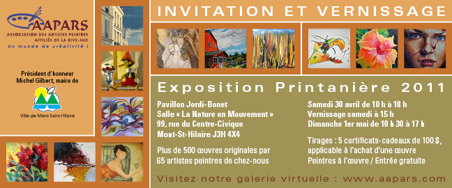 Carton Exposition Printanière 2011