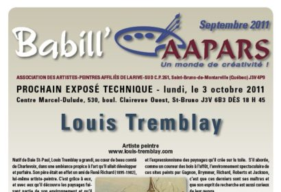 Babill'AAPARS de septembre 2011