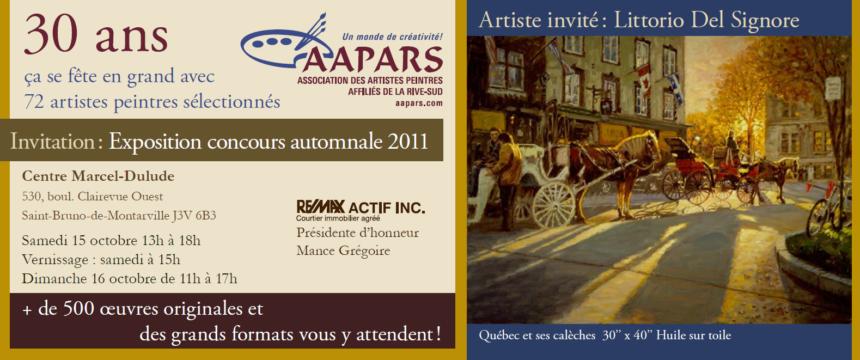 Carton d'invitation : Expo-concours automnale 2011
