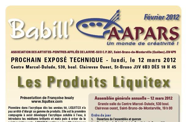 Couverture Babill'AAPARS février 2012