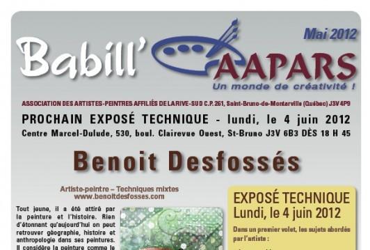 Couverture Babill'AAPARS de mai 2012
