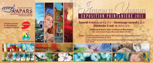 Carton Exposition Printanière 2013