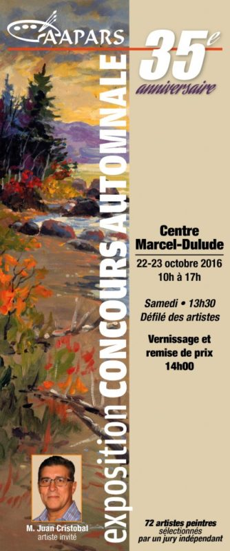 Carton d'invitation Expo-Concours 2016