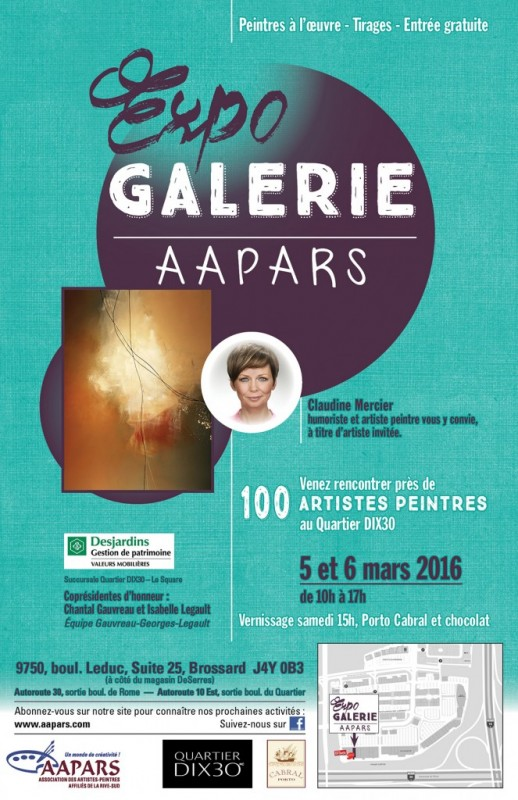 Affiche Expo Galerie AAPARS 2016
