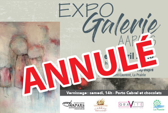 Annulation Expo Galerie AAPARS