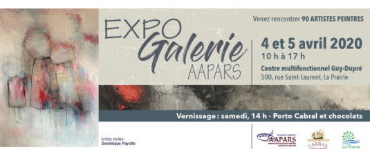 Expo Galerie AAPARS 2020 Carton d'invitation