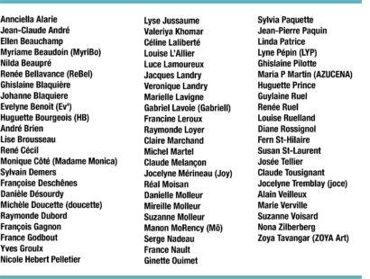 Liste participants